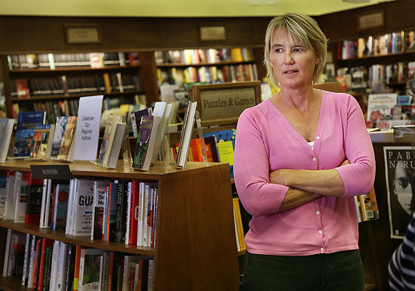 Sarah Pishko and Prince Books in downtown Norfolk has managed to not only survive online competition, but thrive. Among it's eclectic inventory is an extensive offering of works by local authors. (Virginian Pilot, photo)