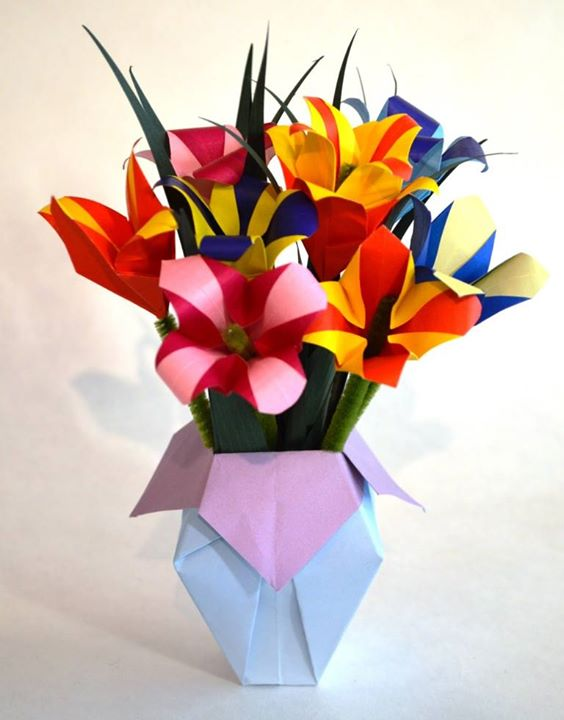 Origami flower bouquet outwire757 origami flower bouquet mightylinksfo